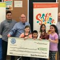 Newcastle Rotary presents Sistema with Check for $5000