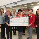 Scotiabank donates to Newcastle Rotary 2018 Purse Auction